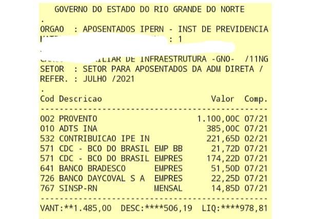 60f04a858f039 Sindicato acusa Governo do RN de desconto ilegal; servidora teve R$ 582 retirados